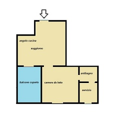 Planimetry 2 rooms in Monza