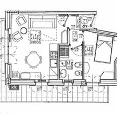 Planimetry 2 rooms in Chiesa In Valmalenco
