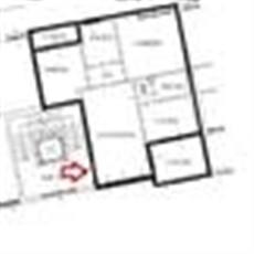 Planimetry 3 rooms in Arcore