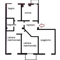 Planimetria 3 locali a Monza