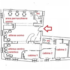 Planimetria attività commerciale a Monza
