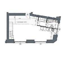 Planimetria loft a Milano