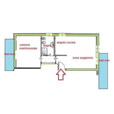 Planimetry half story in Milano