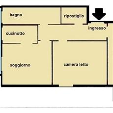Planimetry 3 rooms in Monza