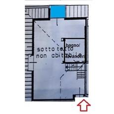Planimetria attico a Monza