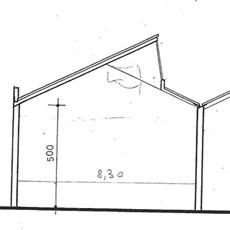 Planimetry artisan shed in Monza