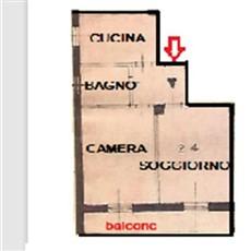 Planimetria 2 locali a Monza